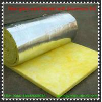 Cheap Glass wool blanket with reinforce Alum.foil with Yellow PE thermal shrinkage bags packing for sale