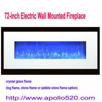 China 72-inch Electric Wall Mounted Fireplace on sale