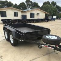 High Side 10x6 Flatbed Tandem Box Trailer With Full Checker Plate