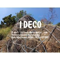 HEA Panels Rockfall Debris Flow Barriers, High Energy Absorption Rock Catch Fences Cable Nets with Double Knots