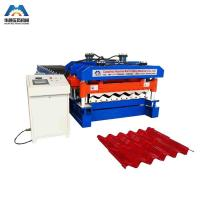 Cheap Custom 13 - 22 Forming Station Metal Roof Tile Roll Forming Machine For Color Steel Tile for sale