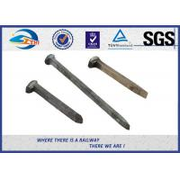 Cheap Q235 / 35# Threaded Railroad Track Spikes 3/4''X'6'' ISO9001 / SGS for sale