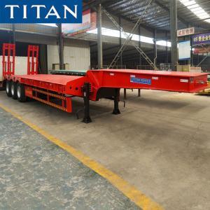 Cheap 3 Axle 80 Ton Low Bed Semi Trailer for Sale in Nigeria for sale