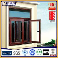 Silver anodized aluminium profiles fabricate windows&doors with fly screen