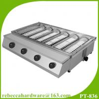 China High quality commercial stainless steel gas smokeless BBQ grill on sale