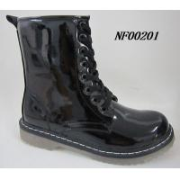 China Women boot,lady boot with patent pu,light outsole on sale
