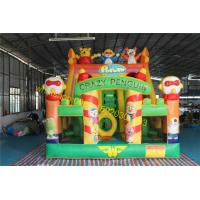 Cheap crazy birds  bouncy castle slide inflatable for sale