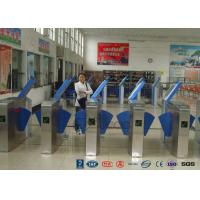 Heavy Duty Industrial Speed Flap Barrier Turnstile For Handicap Channel