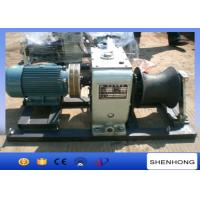 ISO Electric Cable Pulling Winch / Electric Cable Winch Puller For Tower Erection