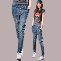 Cheap Fireproof Ladies Coloured Straight Leg Ankle Jeans 100 Percent Cotton Denim for sale