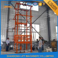 Cheap 1T 12m CE Approved Vertical Guide Rail Elevators Hydraulic Warehouse Cargo Lift for sale
