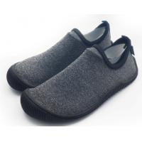 Quality Foldable Unisex Pvc Sole Shoes Soft Scuba Knitting Fabric Direct Injection wholesale