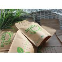 Cheap Earth Friendly Compostable Standing Up Pouch PLA Lined Paper Bio Bags for sale