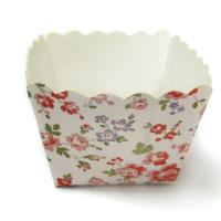 Cheap Square Cake Cup Garden Flower Decorative Cupcake Wrappers of party cups personalized for sale