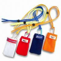 Cheap Silk Screen Printed Mobile Phone Pouches, Available in Various Sizes and Colors for sale