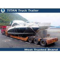 Cheap High strength 3 Axle low bed Heavy Haul Trailers For Heavy Boat Transportation for sale