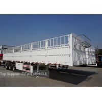 Cheap TITAN Tri - Axles Flatbed Semi Trailer with Fence for carrying 40ft  20ft container for sale