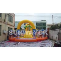 Cheap Spongebob Children Inflatable Jumping Bouncer / inflatable Activities For Entertainment for sale