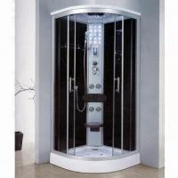 Cheap Shower Enclosures with Aluminum Frame/Tempered Glass, CE Certified, Available in Various Sizes for sale