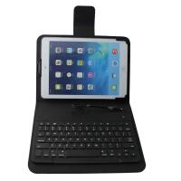 black wired ultrathin leather ipad case with keyboard 8 pin connect with certificate of ipad. Black Bedroom Furniture Sets. Home Design Ideas