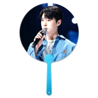 Cheap Customized 0.6mm PET 16X17CM 3D Lenticular Hand Fans for sale