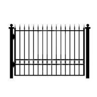 Cheap House Gates Design Garden Black Iron Fence Panels , Outdoor Metal Fence for sale