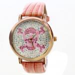 Cheap Fashion Leather Band Analog Quartz Watch , Waterproof Wrist Watch for sale