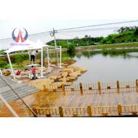 Cheap Steel Tube Tensioned Membrane Structures For LakeSide Pavilions And Pagodas wholesale