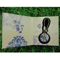 Cheap premium business promotional gifts items idea metal ceramic key chains with gift box for sale