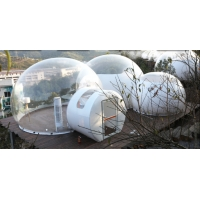 Cheap PVC Tarpaulin Dome Clear Inflatable Bubble Tent With Bathroom for sale