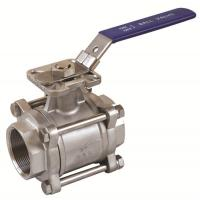 Cheap 3PC ball valves threaded/socket weld/butt weld ball valvesd with high mounting pad for sale