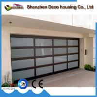 Cheap Modern design automatic overhead folding sectional glass garage door prices for sale