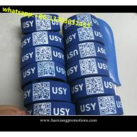 Cheap high quality low cost silicone wristbands ,custom debossed QR code ID silicone wristband for sale