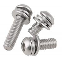 Cheap Stainless Steel Button Head Hex Socket Head Cap Screw Sems By Lock Washer Assembly for sale