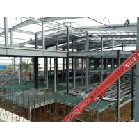 China Multi - Floor Building Steel Frame Fabrication With Aluminum Alloy Window on sale