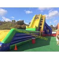 Cheap slide mat bounce giant inflatable slide for sale