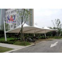 Quality PDFE Parking Tensile Structure Driveway Car Canopy Tents , Car Awning Shelter With Membrane Sail for sale