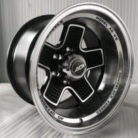 China 16 Inch Off Road 4x4 Black Wheels with Machined Face Aftermarket Rims for Truck and Pickup on sale