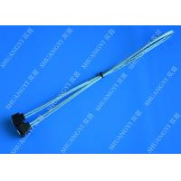 Buy cheap Blue Slim Down Angle 7 Pin SATA Data Cable Female to Female With Locking Latch from wholesalers