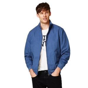 Cheap Full Sleeve Denim Fabric Casual Jean Jackets / Adult Blue Denim Jacket for sale