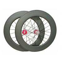 Quality 25mm Width Carbon Track Bike Wheels 700c 88mm Matte / Glossy Finishing wholesale