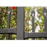 Cheap Powder coated horizontal steel garrison fence 2.1mx2.4m rail 40mm wall thick 2.00mm upright 25mm x 1.6mm wall thick for sale