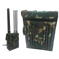 Cheap Wide Band Backpack Mobile Signal Jammer 8 Fiberglass Epoxy Antennas For Military wholesale