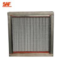 Buy cheap Aluminum Frame High Temperature Hepa Filters With 22 Pleats Per 20 Centimeter from wholesalers