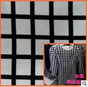 Spring jacquard printed fabrics windbreaker simple fashion geometric patterns