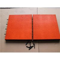 Cheap 500*500*50 totally pin-hole rubber tile for sale