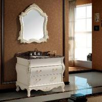 Cheap 40 Inch Traditional Bathroom Vanity Sink Cabinet with Mirror (SE1003) for sale