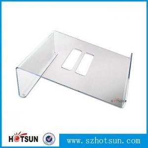 Cheap Acrylic Notebook Holder, Lucite Laptop Desk stand, Plexiglass Notebook Riser for sale