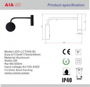 Quality Surface mounted adjusting angle led headboard wall light/hotel led book reading wholesale