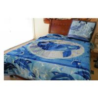 Cheap Acrylic Cotton Soft Mink Blanket Bule For Adult , Custom Printed Blankets 220X240CM wholesale